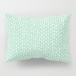 Hand Knit Mint Pillow Sham