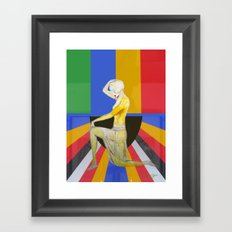 Showgirl, Popart design with vintage art deco style Framed Art Print