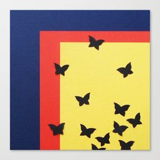 Butterfly Squares Papercut Canvas Print