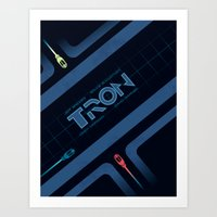 tron Art Prints featuring Tron by nathanandersonart
