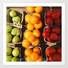Market Tomatoes Art Print