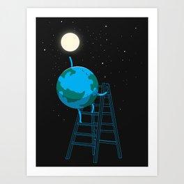 Reach the moon Art Print