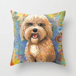 Golden Doodle by Robynne Throw Pillow
