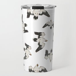 Birds Pattern Photo Collage Travel Mug