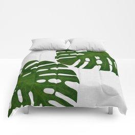 Monstera Leaf II Comforters