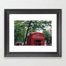 telephone boxes Framed Art Print