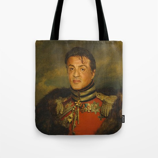 Sylvester Stallone - replaceface Tote Bag