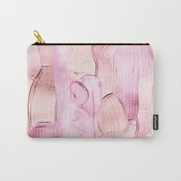 Blush Acrylic Hand Drawn Strokes Carry-All Pouch