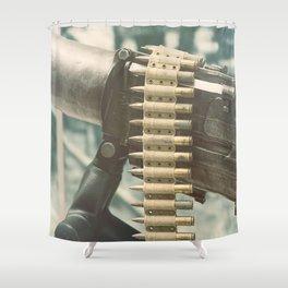 Old machine Gun. First World War Machine gun. Shower Curtain