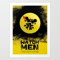 watchmen Art Prints featuring Watchmen poster by Lionel Hotz