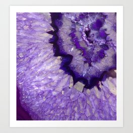 Purple Crystal Art Print
