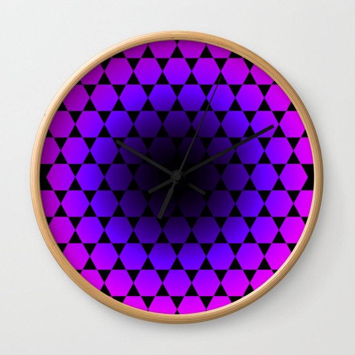 Hexagon & Pattern Wall Clock