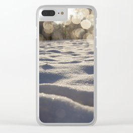 drifts of snow in the woods Clear iPhone Case