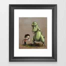 Digging for Dinosaurs Framed Art Print