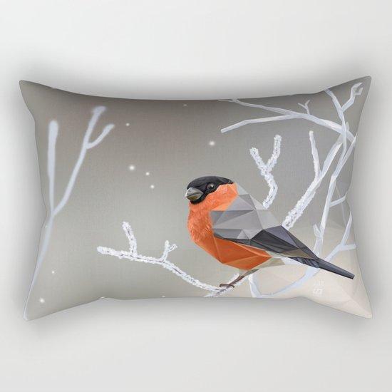 Safe transitions! // (polygonal bull-finch) Rectangular Pillow
