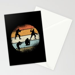 Soldier Retro Stationery Cards