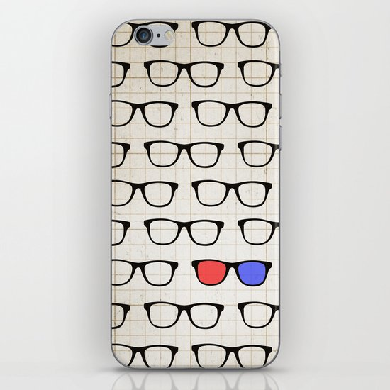3D Hipster iPhone & iPod Skin