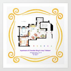 Apartment of Chandler and Joey from FRIENDS Art Print