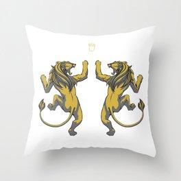 King's crown Throw Pillow