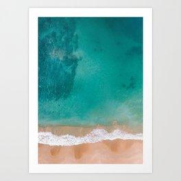 Beach and Sea Art Print