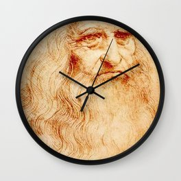 Leonardo Da Vinci self portrait Wall Clock