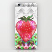 strawberry iPhone & iPod Skins featuring Strawberry by Ornaart