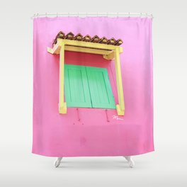 Real life dollhouse in Singapore Shower Curtain
