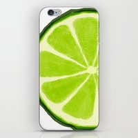 lime iPhone & iPod Skins featuring Lime by Linde Townsend