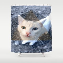 METRIC CAT Shower Curtain