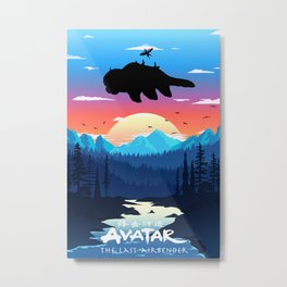 Ava-tar The Last Air-bender Aang Art, Aang Poster, Ava-tar Wall Art Metal Print