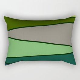 Green Saw Rectangular Pillow
