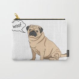 Pug Woof Carry-All Pouch