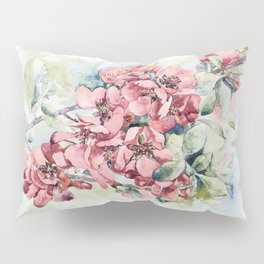 Flowering Japanese quince Pillow Sham