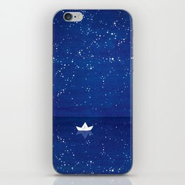 Zen sailing, ocean, stars iPhone Skin