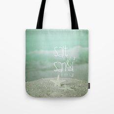 SALT &  SAND Tote Bag