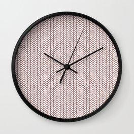 Modern geometrical herringbone rose glitter Wall Clock
