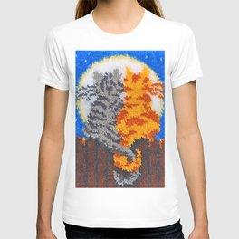 Romantic Cats Latch Hook T-shirt