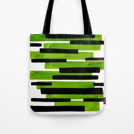 Lime Green Primitive Stripes Mid Century Modern Minimalist Watercolor Gouache Painting Colorful Stri Tote Bag