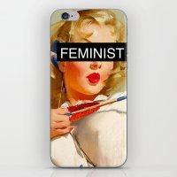 feminist iPhone & iPod Skins featuring Feminist by Lucas de Souza