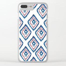 Rugged Royal - aztec watercolour pattern Clear iPhone Case