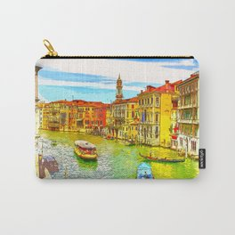 Awesome Venice Italy, Canal View painting illustration Carry-All Pouch