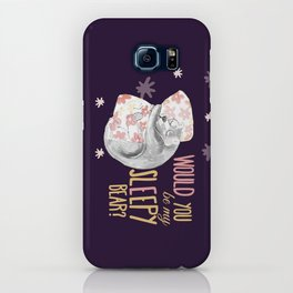 Would you be my sleepy bear? (c) 2017 iPhone Case