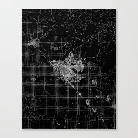 Fresno map Canvas Print
