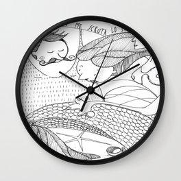 Una cosa di già noto: lei di me scruta lo scroto Wall Clock