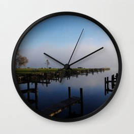 Harbour at Lake Chiemsee Wall Clock