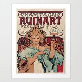 Vintage poster - Champagne Ruinart Kunstdrucke