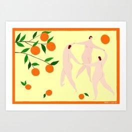 Dancing Under the Orange Tree Art Print