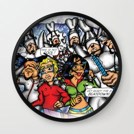 C2 & Posse (This is not Cool!) Wall Clock