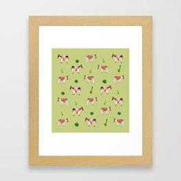 donkeys and cactuses Framed Art Print