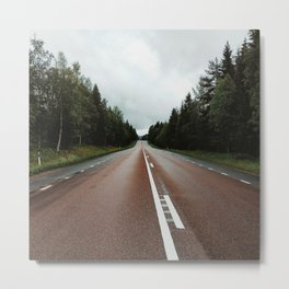 middle of the road in scandinavia Metal Print
